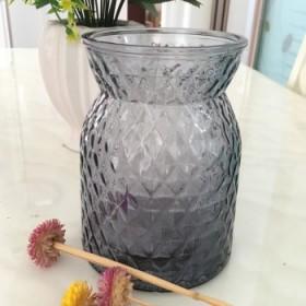 菠萝彩色玻璃花瓶简约现代客厅办公室水培插花家居饰品