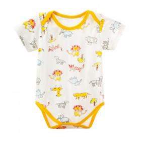 婴儿童连体哈衣三角爬服男女宝宝短袖背心纯棉薄款夏0