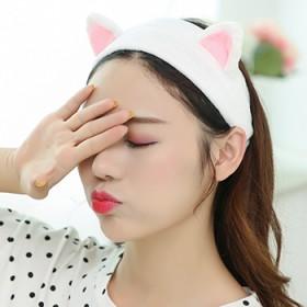 爱可饰品京东下单 韩版景甜同款发带猫耳朵洗漱束发带