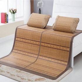 竹席凉席子木纹金钻折叠席双面碳化凉席