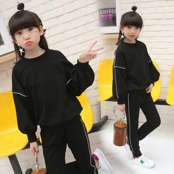 2017新款韩版中大童休闲两件套秋季女孩衣服潮