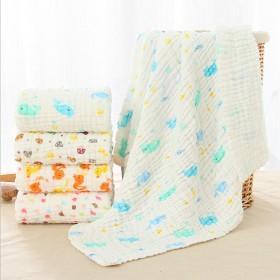6层纯棉纱布婴儿浴巾