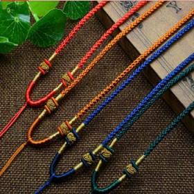 红绳挂坠吊坠挂绳男女蜜蜡玉佩手工编织项链