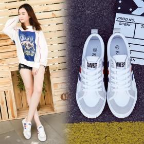 韩版帆布鞋女鞋新款