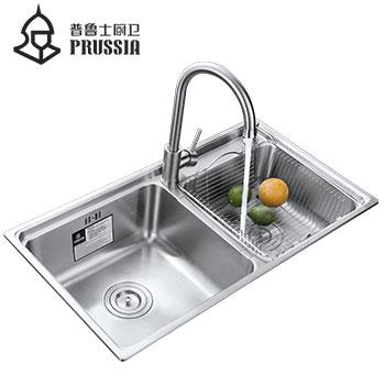普鲁士不锈钢水槽双槽 新品