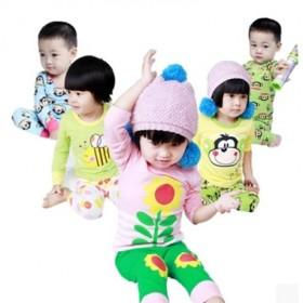儿童内衣套装男童女童衣服宝宝睡衣纯棉2件套家居服