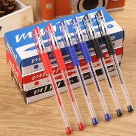 中性笔2盒24只装加2只笔芯签字笔办公笔考试笔水笔
