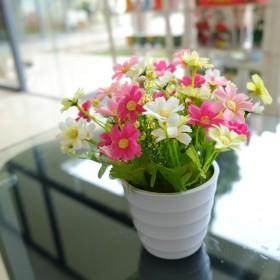 仿真花套装花艺 小清新雏菊客厅书桌装饰花特价