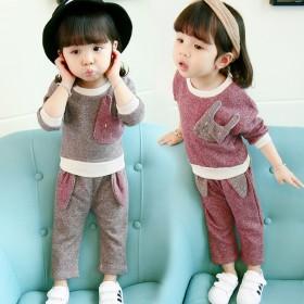 女童时尚韩版长袖春秋两件套
