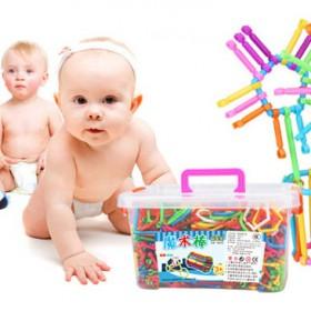 聪明魔术棒塑料拼插大颗粒益智拼装幼儿园儿童玩具积木