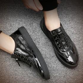 秋季新款男鞋韩版休闲鞋男士皮鞋板鞋透气鞋一脚蹬鞋子