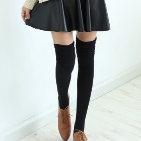 秋冬女士中筒袜情侣袜保暖袜时尚袜女鞋连衣裙