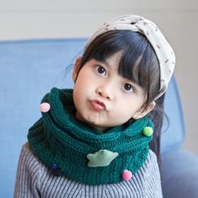儿童围巾针织保暖满天星毛线围脖套头宝宝脖套