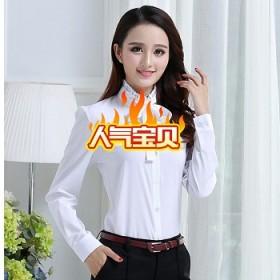 春秋新款韩版百搭白衬衫女长袖修身显瘦连衣裙女鞋