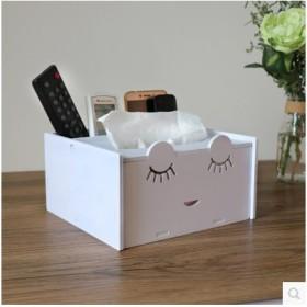 家居多功能大纸巾盒摇控器收纳架款