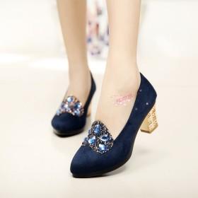 春秋老北京布鞋女鞋舒适女鞋水钻高跟工作鞋四季鞋