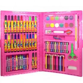 儿童绘画86件套绘画绘图套装文具水彩笔画笔蜡笔文具