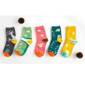15款可选 5双装 日系女全棉中筒袜学生运动棉袜
