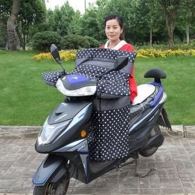 电动摩托车挡风被冬季加厚加大电瓶车冬天保暖挡风罩防