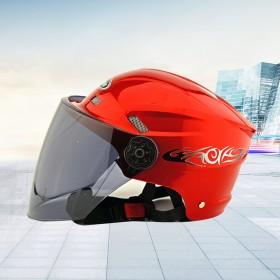 头盔女夏季防晒摩托车男助力电动机车半覆式防紫外线遮