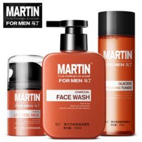 马丁男士护肤套装洗面奶爽肤水保湿补水控油去黑头护肤