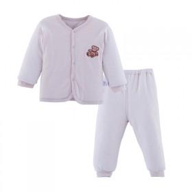 婴儿棉袄棉裤套装冬季加厚棉服纯棉男女宝宝彩棉衣