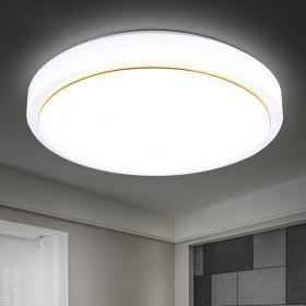 家用超亮led客厅灯卧室灯阳台卫生间普通圆灯三色圆