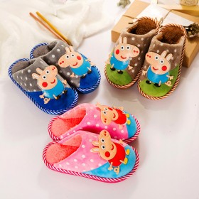 儿童棉拖鞋男童女童室内宝宝鞋卡通防滑中大童鞋子