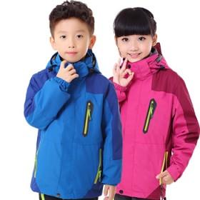儿童冲锋衣男童女童两件套三合一登山服小孩大童童装冬