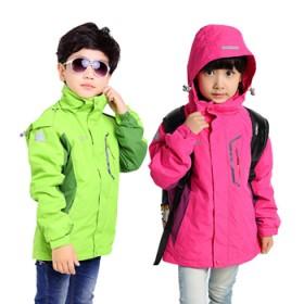 儿童冲锋衣两件套三合一登山滑雪服小孩大童外套上衣冬