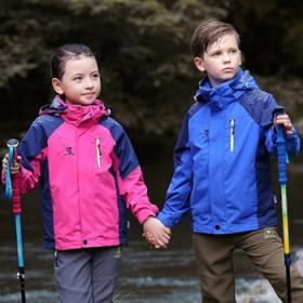青少年儿童冲锋衣男女童两件套三合一小孩大童加绒加厚