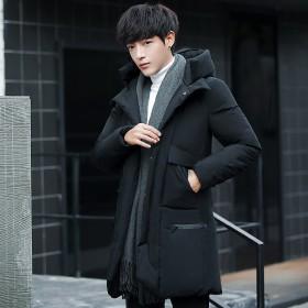 冬装棉衣男士中长款韩版青年帅气加厚棉袄外套