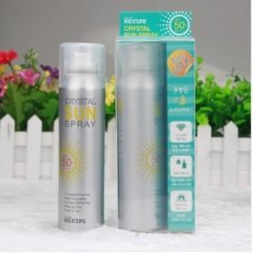 韩国RECIPE保湿水晶防晒喷雾隔离霜SPF50