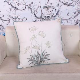 亚麻纯色枕套沙发垫套背办公室居家简约布艺腰靠套枕套
