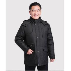冬装中老年羽绒服男中长款加厚外套上衣