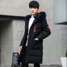 棉衣男中长款冬季韩版个性棉服潮流帅气加厚棉袄外套