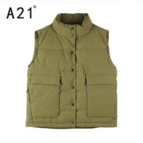 A21以纯线上品牌2017冬季新品保暖立领纯色棉衣