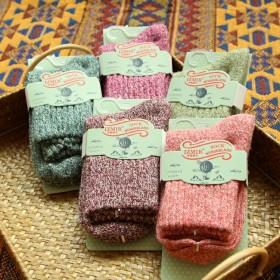 秋冬季日系保暖加厚学生女士袜子毛线袜羊毛袜女袜