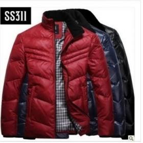冬季羽绒服加厚立领保暖白鸭绒外套上衣