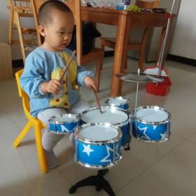 儿童架子鼓初学者练习鼓仿真爵士鼓乐器音乐玩具镭射五
