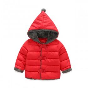 2017冬季新款女童中小童小孩宝宝加厚保暖棉衣棉袄