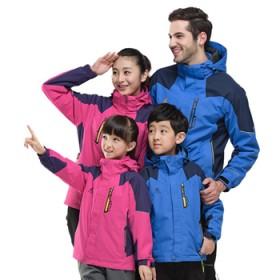 青少年儿童冲锋衣男女童大童三合一加绒加厚防寒服外套