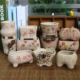 多肉陶瓷花盆创意盆陶瓷栽花盆绿植盆栽陶瓷花盆种植盆