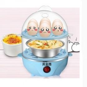 黄金路家用蒸蛋器多功能双层不锈钢煮蛋器迷你自动断电