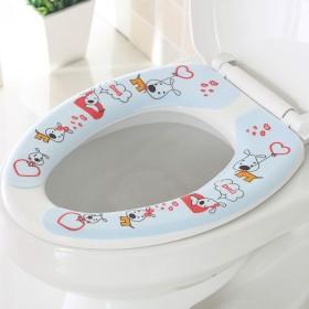 6对装 黏贴式可水洗马桶垫
