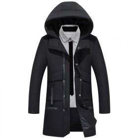 冬季新品!中长款加厚大码羽绒服男士外套