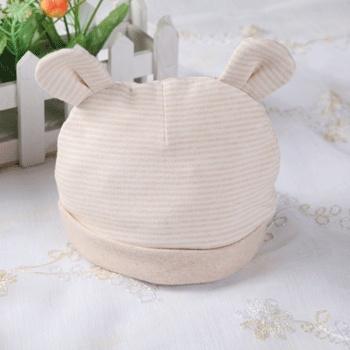 婴儿帽子0-3个月新生儿纯棉帽子