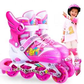 溜冰鞋儿童全套装356810岁男女旱冰轮滑鞋直排轮