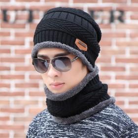 男士女士帽子冬季保暖针织帽护耳棉帽男冬天