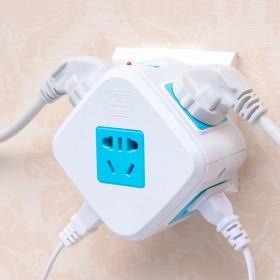 魔方插座电源转换器分插头一转二三四五多功能无线家用